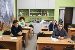 Михаил Гуров и Сергей Левченко на Конкурсе Учителей математики Юга России